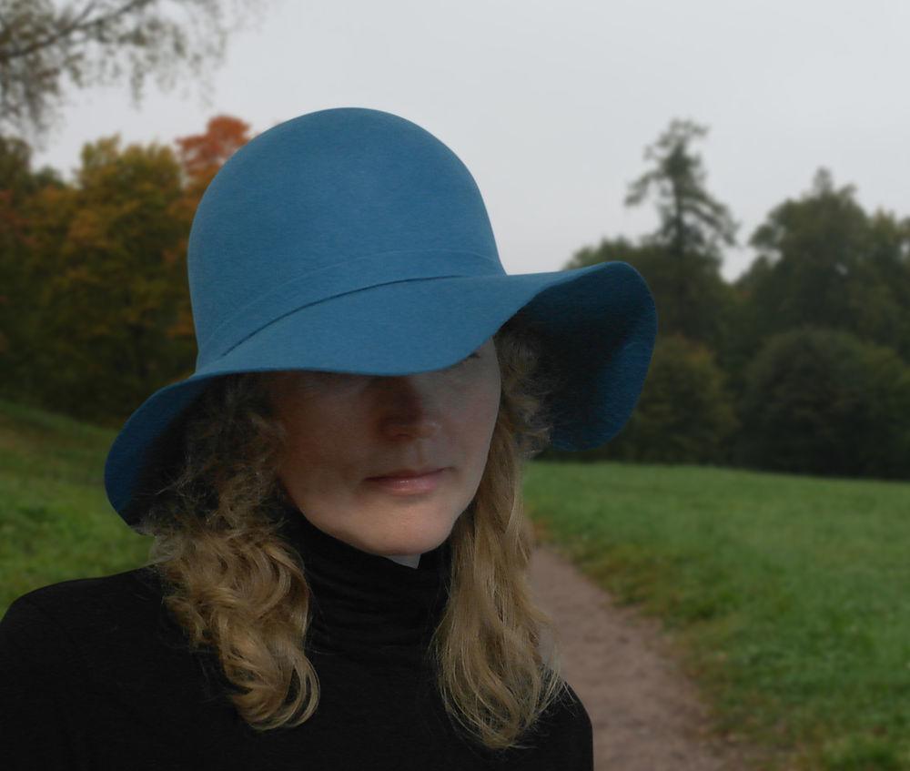 МК Натальи Сафоновой  «Валяная шляпа с  полями из кардочеса», фото № 4