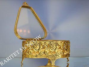 Шкатулка антикварная латунь золото MATSON 5. Ярмарка Мастеров - ручная работа, handmade.