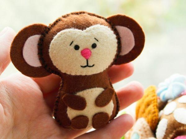 Милая обезьяна из фетра выкройка / BeemboLand /   Ярмарка Мастеров - ручная работа, handmade