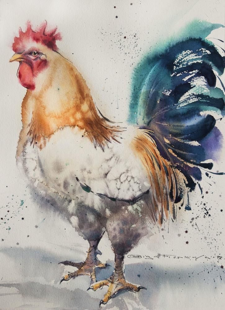 картины с петухами, купить картину, купить картину с птицами