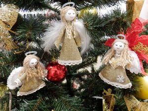 Рождественский ангелок в стиле рустик: мастер-класс. Ярмарка Мастеров - ручная работа, handmade.