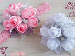 Видео мастер-класс: делаем повязку на голову с бутонами роз. Ярмарка Мастеров - ручная работа, handmade.
