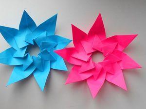 Видеоурок оригами: собираем звезду из бумаги. Ярмарка Мастеров - ручная работа, handmade.