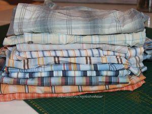 Запас хлопковых рубашек для японских заплаток. Ярмарка Мастеров - ручная работа, handmade.