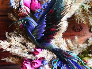 Полуночная колибри. Ярмарка Мастеров - ручная работа, handmade.