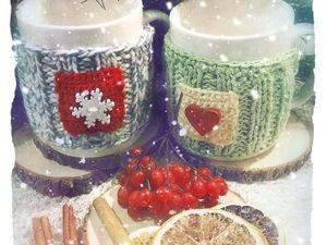 Кружка в свитерке в подарок&#x3B;). Ярмарка Мастеров - ручная работа, handmade.