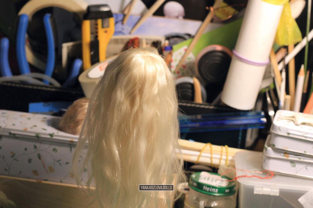 кукольная прическа, шарнирная кукла