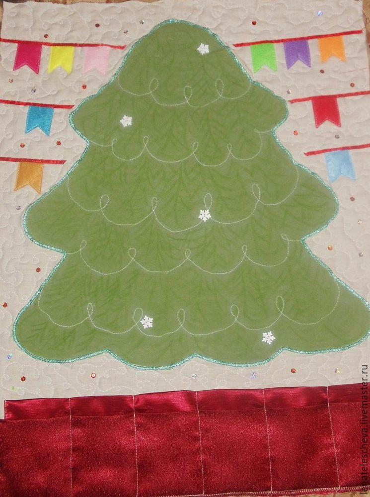 елка текстильная, декорирование handmade