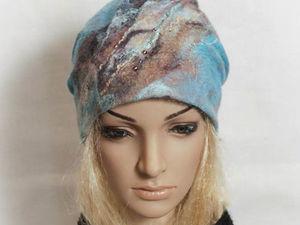 Шапочка с драпировкой или шарф-снуд на выбор. Специальная цена! | Ярмарка Мастеров - ручная работа, handmade