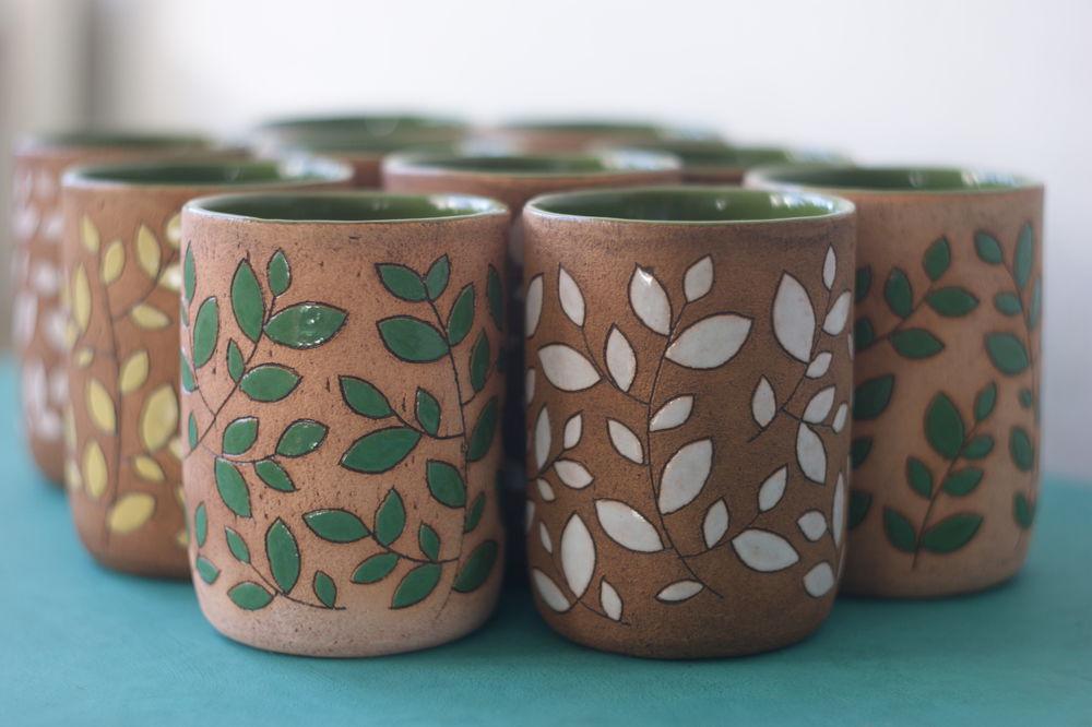 лесные стаканы, посуда