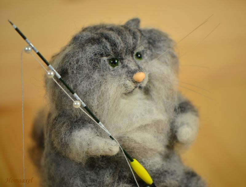 норвежский лесной кот, подарок ручной работы