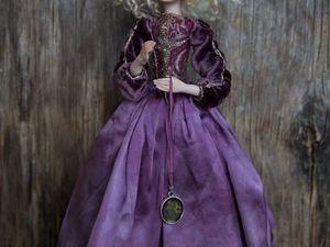 Авторская кукла Виола с лепным лицом, ручками и ножками. Ярмарка Мастеров - ручная работа, handmade.
