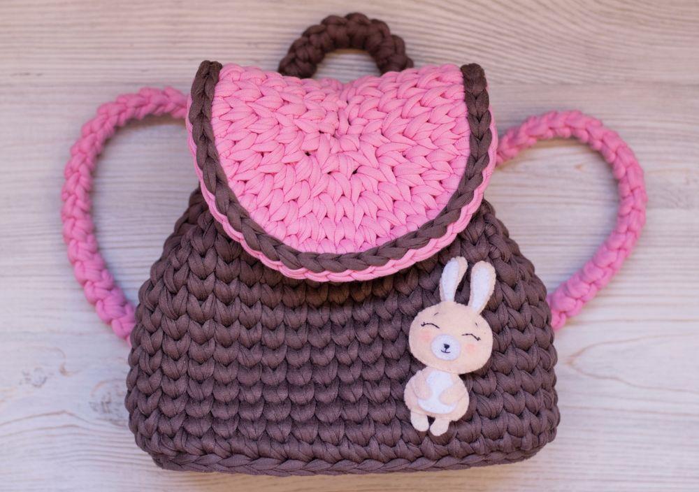 детский рюкзак, трикотажная пряжа, для детей