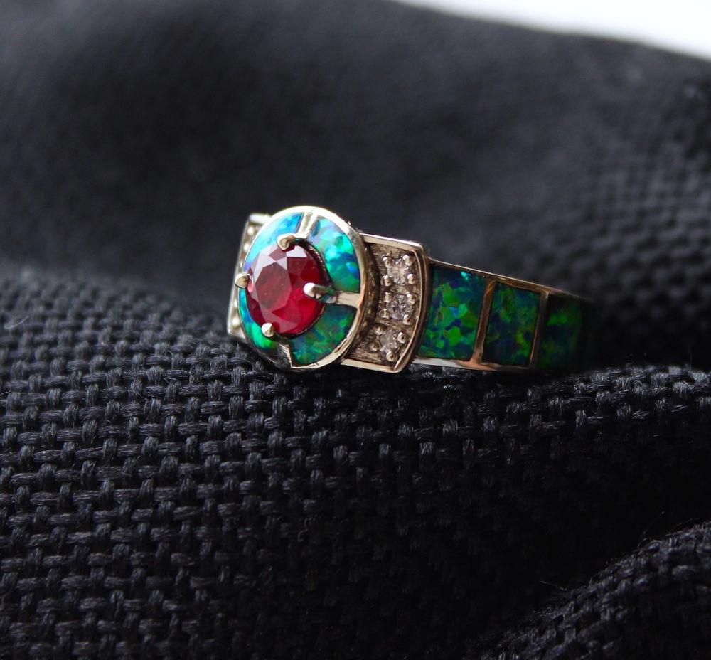 рубин, обручальные кольца