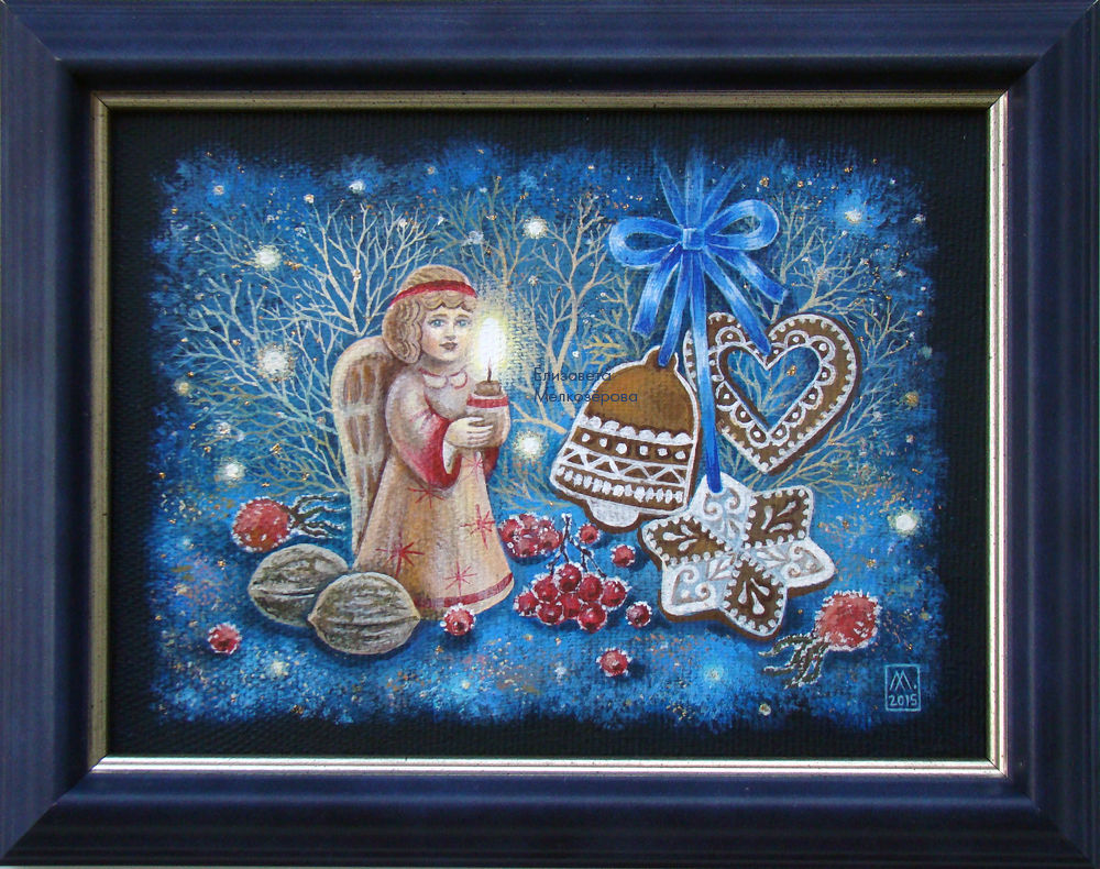 рождественский подарок, мелкозёрова елизавета, новый год, украшение интерьера