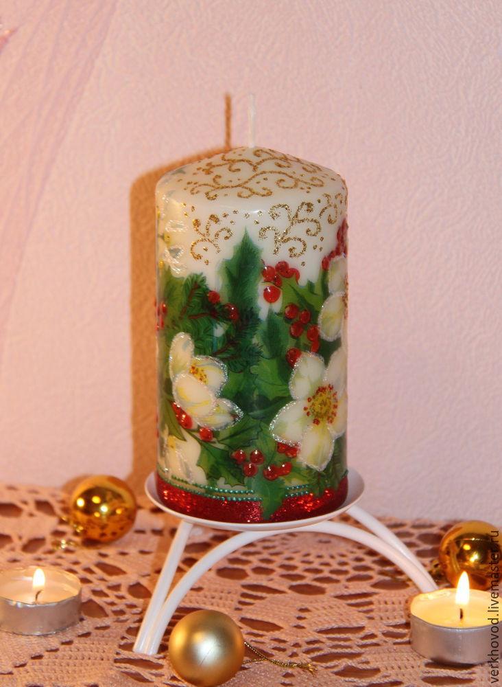 Декупаж свечи сделанной своими руками 8