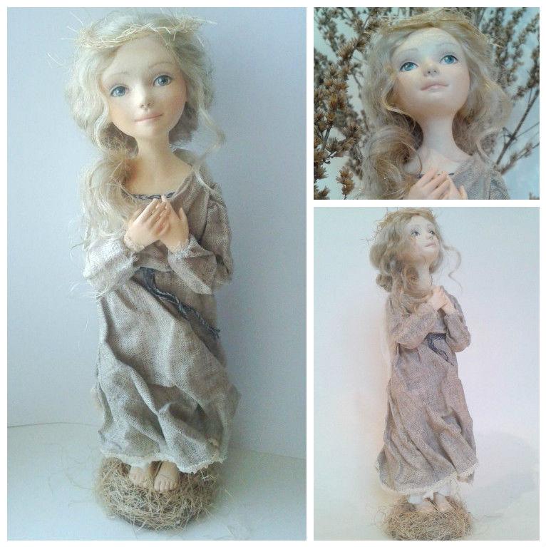 конкурс, подарок, ангел, ангеленушка, авторская работа, авторская кукла, подарок на новый год, лучший подарок, лучший подарок 2016, подарок 2017, коллекционная кукла, кукла ручной работы, кукла из полимерной глины