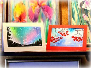 Видео мастер-класс: открытка на ткани своими руками. Ярмарка Мастеров - ручная работа, handmade.