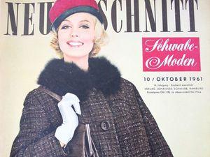 Neuer Schnitt — старый немецкий журнал мод 10/1961. Ярмарка Мастеров - ручная работа, handmade.