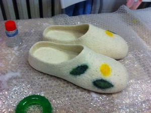 Тапочки-шлепанцы с гарбо-пяткой | Ярмарка Мастеров - ручная работа, handmade