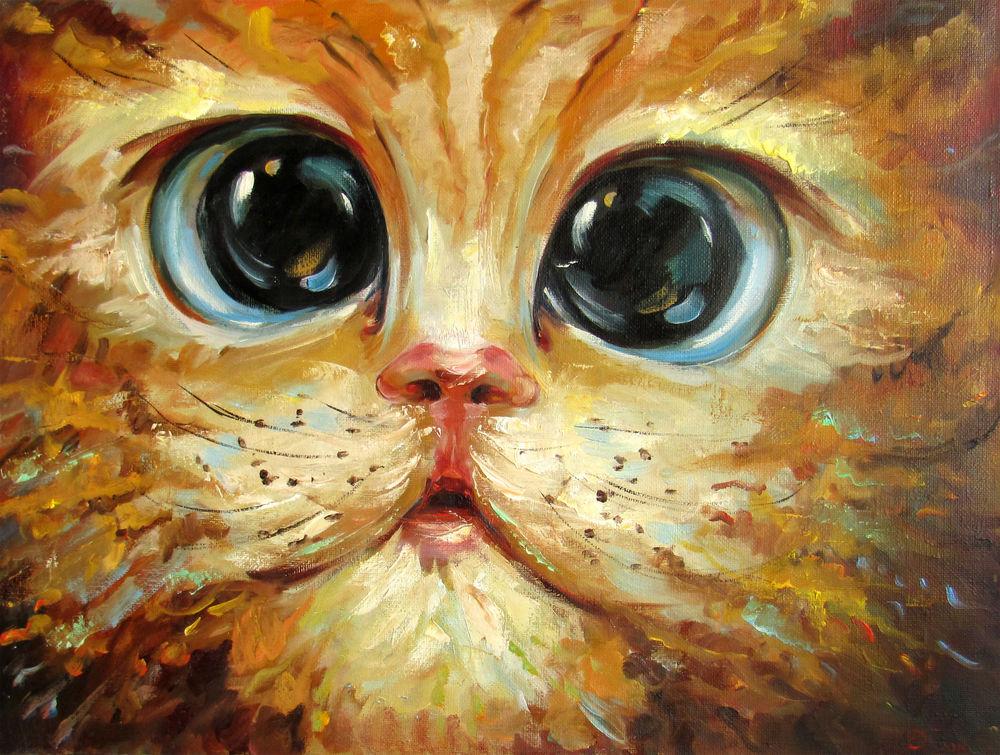 выставка, кошачья выставка, картина маслом на холсте, выставка март