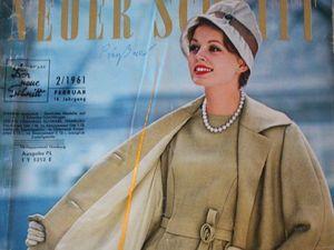 Neuer Schnitt — старый немецкий журнал мод 2/1961. Ярмарка Мастеров - ручная работа, handmade.