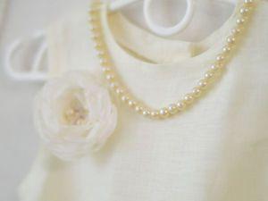 Платье для девочки из льна | Ярмарка Мастеров - ручная работа, handmade
