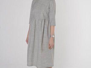 Платье с завышенной талией YOKU, свето-серая шерсть. Ярмарка Мастеров - ручная работа, handmade.