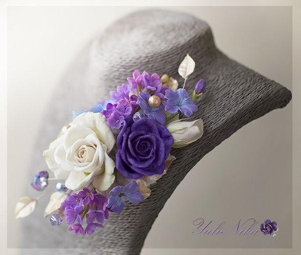 цветы из полимерной глины, золотистый