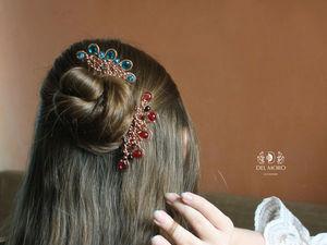 Шпильки и гребни в волосах. Ярмарка Мастеров - ручная работа, handmade.