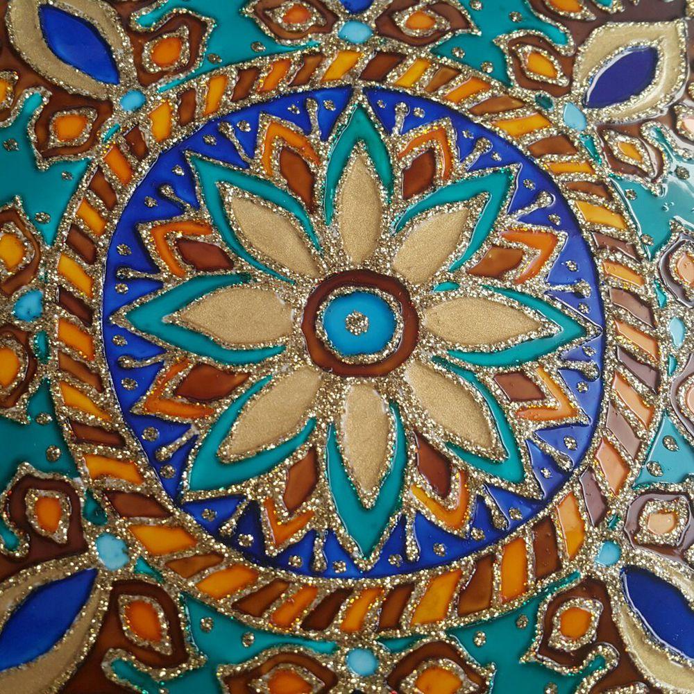 мастер класс по росписи, керамическая плитка, крылья искусства