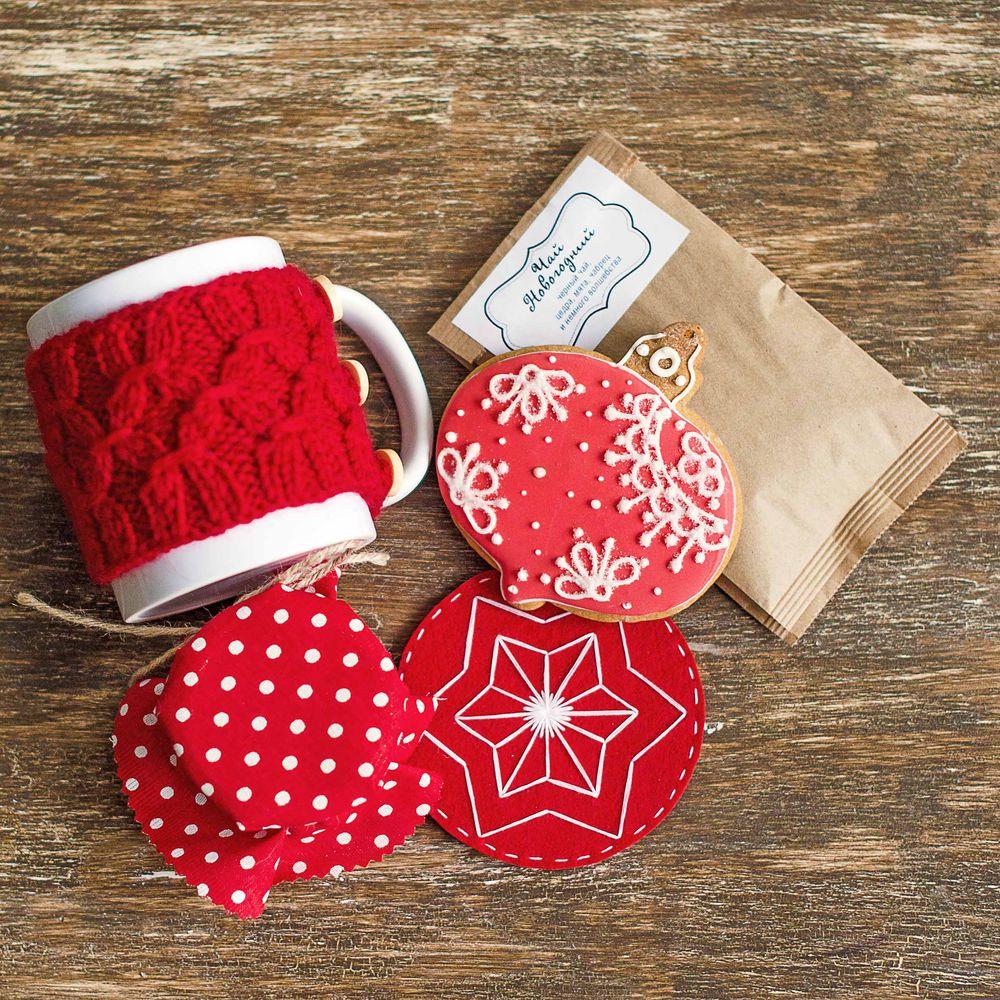 подарок для любимой, черный чай, подставки под горячее