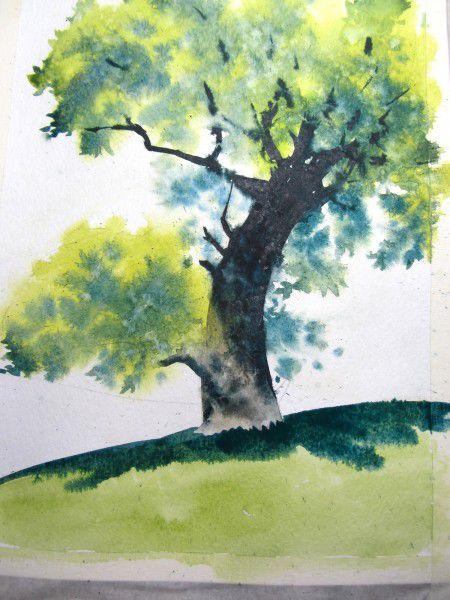 Как нарисовать дерево акварелью, фото № 18