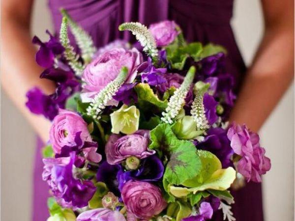 Фиолетовый цвет в свадебном декоре