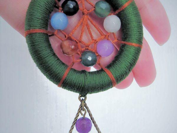 Плетем мини-ловец снов «Начало весны» своими руками | Ярмарка Мастеров - ручная работа, handmade
