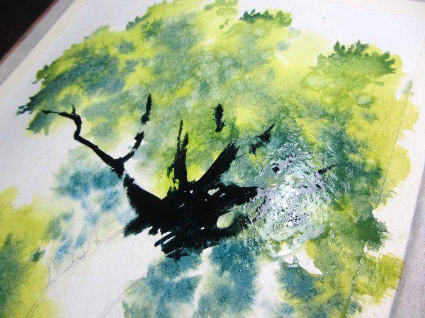 Как нарисовать дерево акварелью, фото № 13