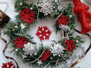 Мастерим новогодний венок своими руками. Ярмарка Мастеров - ручная работа, handmade.
