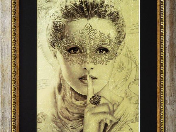 Картина на белом сусальном золоте | Ярмарка Мастеров - ручная работа, handmade