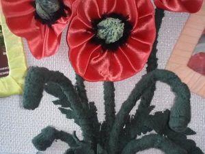 Панно-коллаж для фотографий «Цветущий мак». Ярмарка Мастеров - ручная работа, handmade.