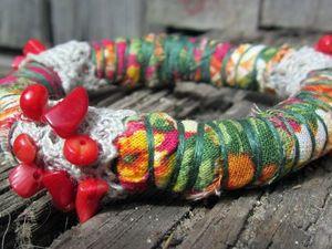 Мастерим оригинальный текстильный браслет в стиле бохо. Ярмарка Мастеров - ручная работа, handmade.