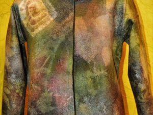 17-18 апреля 2017, Москва, Мастер класс по валянию двустороннего нуновойлочного жакета с  растительными принтами. | Ярмарка Мастеров - ручная работа, handmade