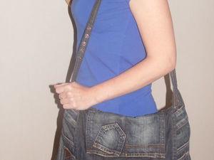 Шьем оригинальную сумку из юбки-денима. Ярмарка Мастеров - ручная работа, handmade.