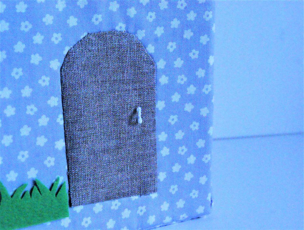домик для кукол, подарок на день рождения, подарок на 8 марта, сумка из ткани, дом для игрушек