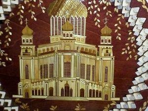 """Панно """"Храм"""".Инкрустация соломкой. Ярмарка Мастеров - ручная работа, handmade."""