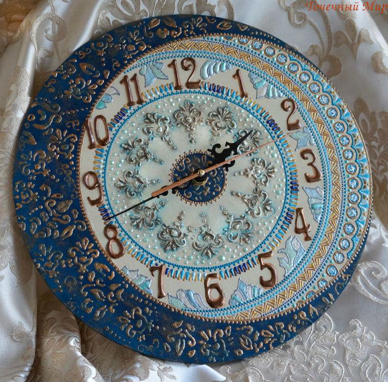 Осваиваем роспись по дереву оформляем интерьерные часы ЧАСТЬ 2, фото № 3