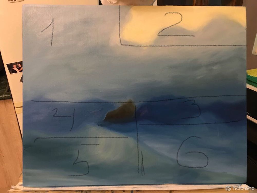 айвазовский, учим рисовать, техника мастихин