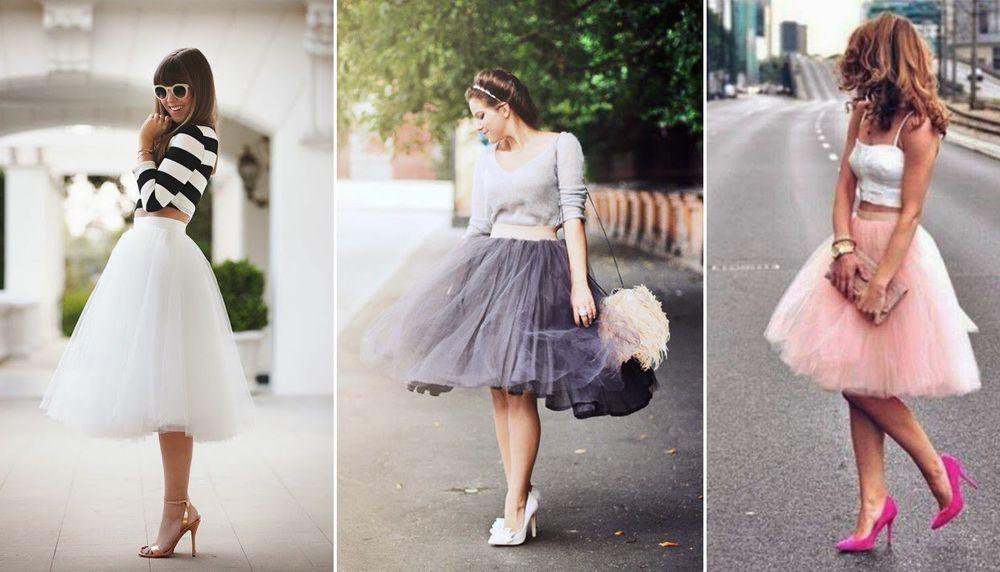 Платье с фатиновой юбкой на девушку