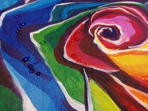 Рисуем капельки росы на розе. Часть 2. Ярмарка Мастеров - ручная работа, handmade.