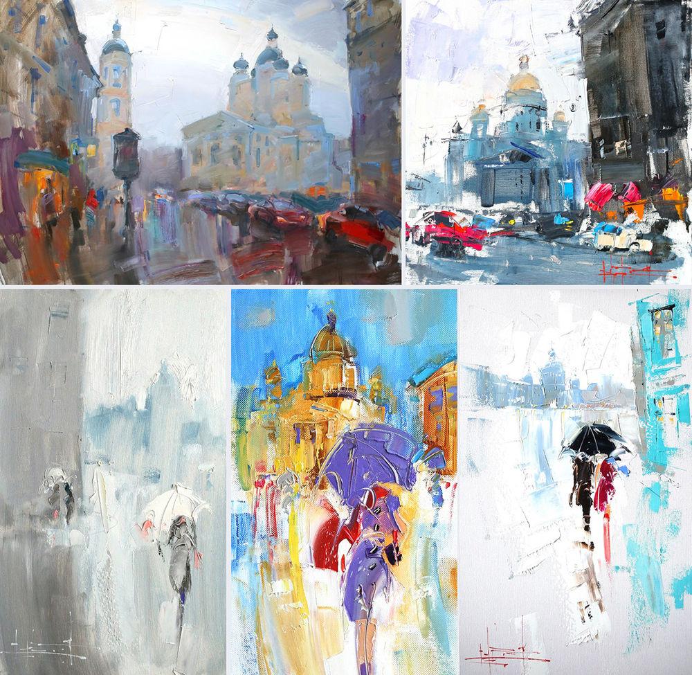 Konstantin Sukhopluev: Artist Painting Rain, фото № 7