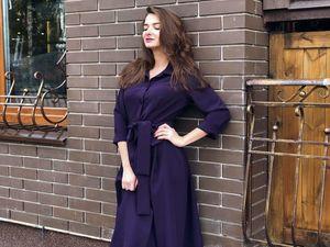 Женственное платье длины миди Диез — новинка этой осени (фото и видео). Ярмарка Мастеров - ручная работа, handmade.